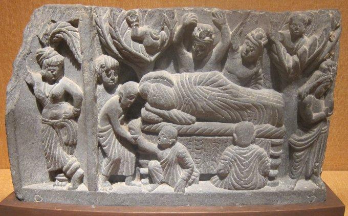 'Parinirvana Gandhara,_c._100_CE,_stone,_Honolulu_Academy_of_Arts